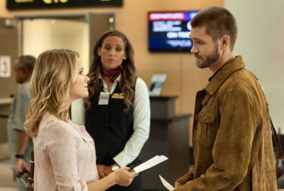 "Figure 3 - Chloe and Buck before he boards the plane in ""Left Behind """