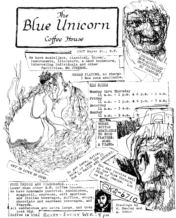 Figure 4 - Blue Unicorn Flyer circa 1967