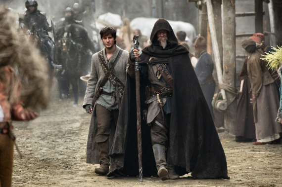 Figure 5 - Ben Barnes (left) and Jeff Bridges (right) in Seventh Son