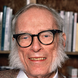 Figure 1 - Isaac Asimov in about 1991 - image ©Getty Images