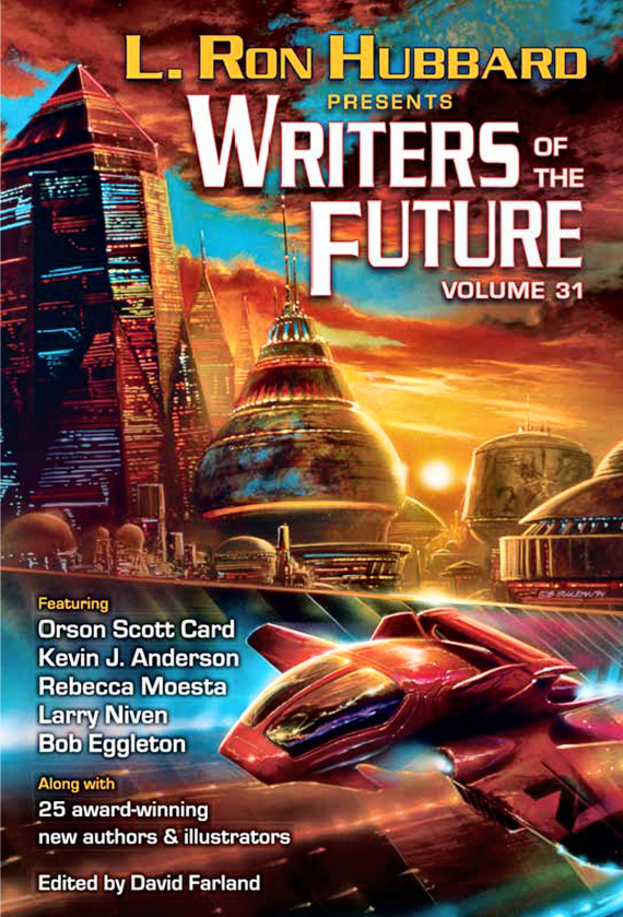 """Figure 3 – Writers of the Future 31 Cover """"Queen of Angels"""" ©1994 Bob Eggleton"""
