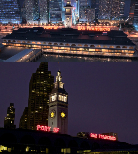 Figure 5 - Ferry Building from Big Hero 6 and from San Francisco