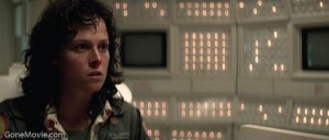 Sigourney Weaver (Ripley) is suspicious about Ash.