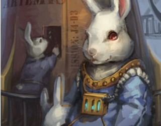 Asni's Art Blog: Space Rabbit