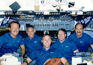 STS-27 Crew: Hoot Gibson, Mike Mullane, Jerry Ross, Bill Shepherd,  Guy Gardner