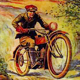 Figure 1 - 'Victor Appleton's' Tom Swift on his motorcycle