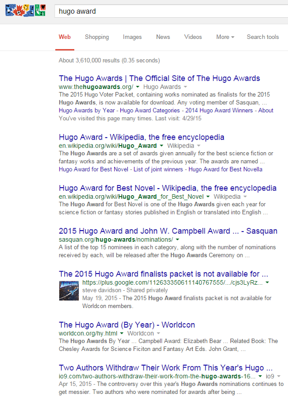 hugo page