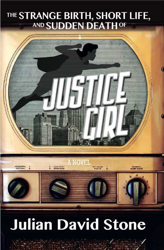 Figure 3 - Justice Girl by Julian David Stone Cover (designed by Greg Szimonisz)