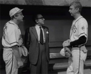 Jack Warden (left), Abraham Sofaer (center), Robert Sorrells (right) The Mighty Casey (1960) episode of The Twilight Zone