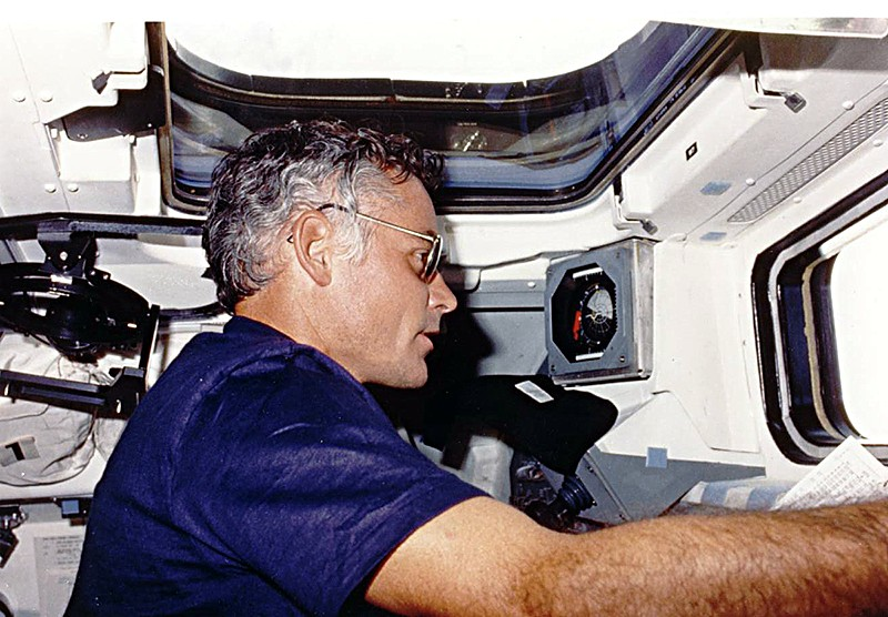 Mike Mullane on STS-41D August 1984