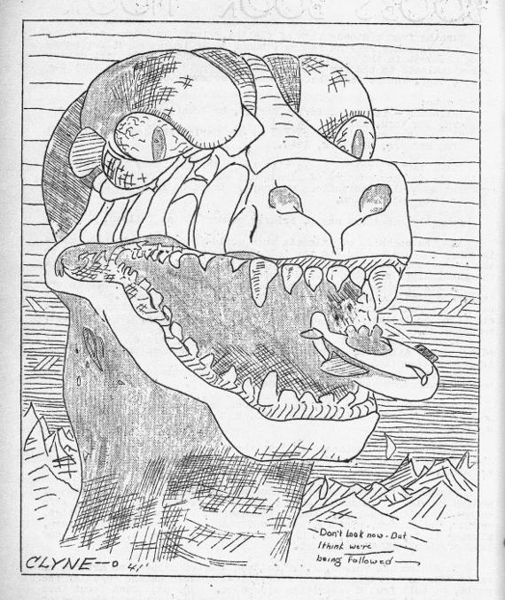 RG Cameron Clubhouse Aug 28 2015 Illo #3 'T-Rex'