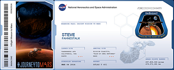 Figure 3 - Mars Boarding Pass