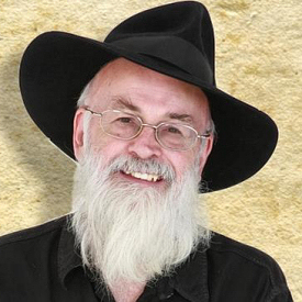 Figure 1 - Sir Terry Pratchett (photo by David Bird)