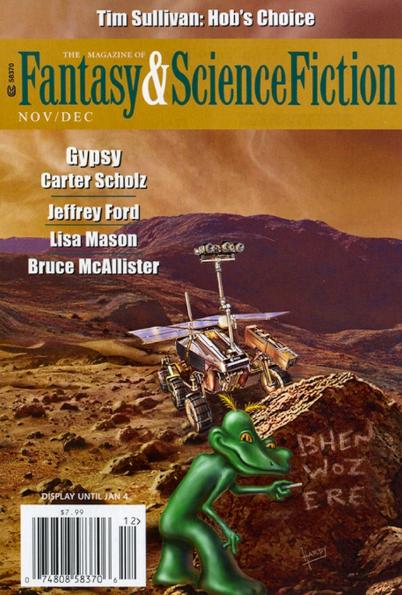 Figure 2 - F & SF Cover Nov-Dec 2015 by David A. Hardy