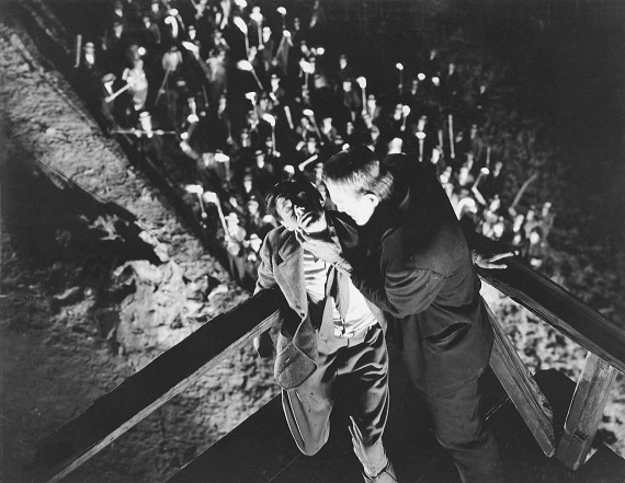 Figure 6 - Frankenstein and monster at mill