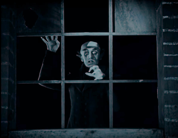 Figure 5 - Orlok watches Ellen from the house across the street