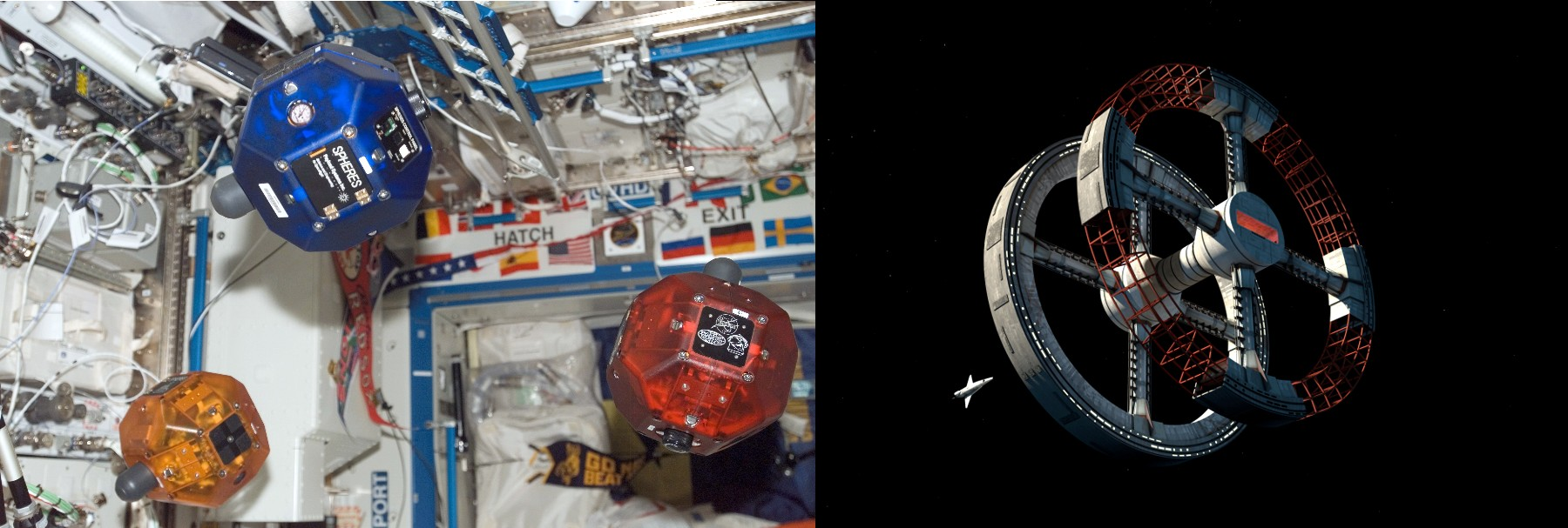 Space Oddsy Station vs ISS Spheres