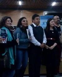Durante la presentación del libro