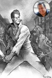 """Una de las ilustraciones de la novela """"1842, Gye ciudad muerte"""", realizada por Gabriel Fandiño."""