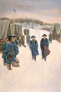 Washington and Steuben at Valley Forge (1896