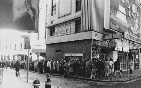 The queue to see Star Wars at London's Leicester Square on December 27, 1977