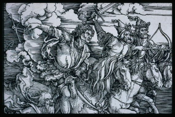 Albrecht-Dürer-The-Four-Horsemen-Apocalypse-probably-1497-98-painting-artwork-print-e1336660405276