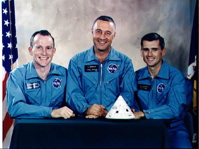 Crew of Apollo 1: Ed White, Gus Grissom, Roger Chaffee