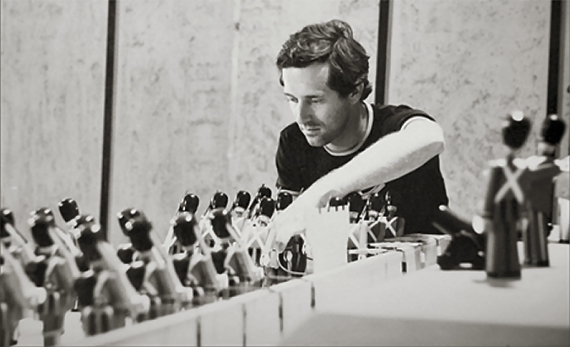 Figure 3 - George Pal's son David Pal animating a sequence in The Power