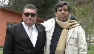 """El escritor Jorge Valentín Miño, autor de """"Ayer será otro día"""", junto a Iván Rodrigo Mendizábal, autor de la presente reseña."""