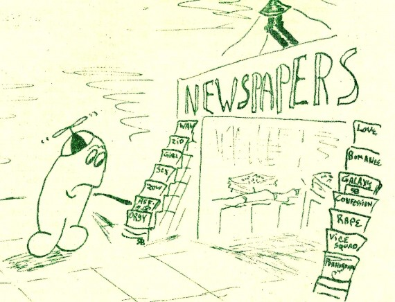 RG Cameron Clubhouse Feb 26 2016 Illo #7 'NEWS STAND'