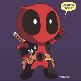 Figure 1 - Li'l Deadpool art by Irene Y. Lee