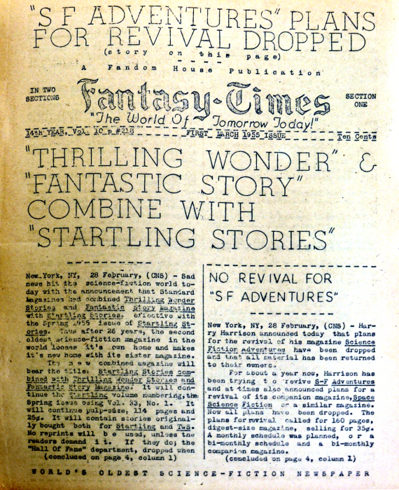 Figure 2 - Fantasy Times 1955