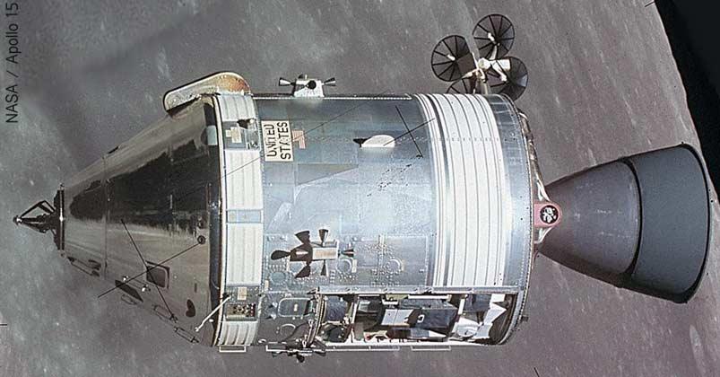 Apollo 15 Command Module in orbit