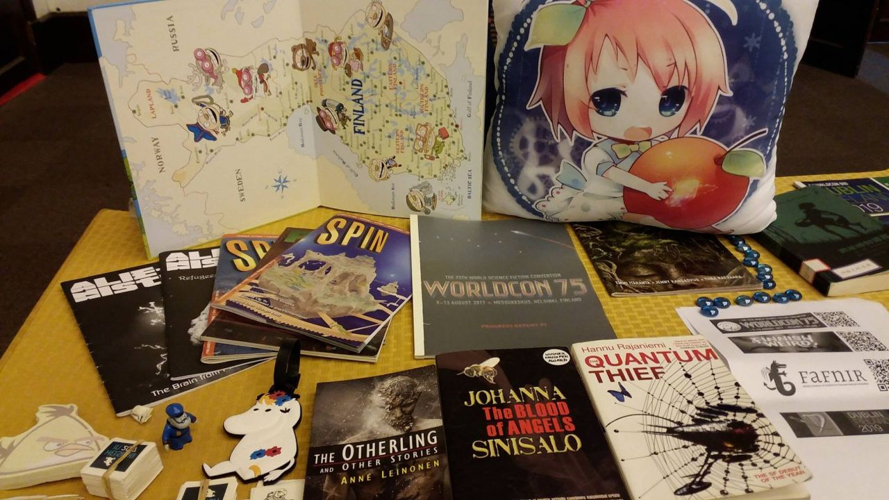 Exhibition for Worldcon 75, which will be held in Helsinki in 2017 (Photo credit by Regina Kanyu Wang)