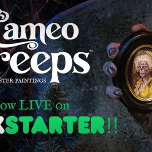 Cameo Creeps: Tiny Paintings With Monster Details!