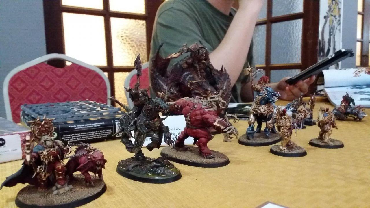 Warhammer 40k miniatures (Photo credit by Regina Kanyu Wang)