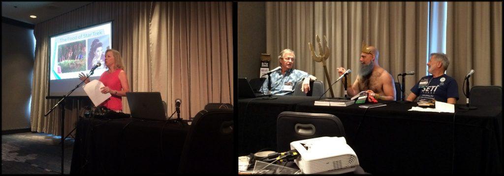Denise Clemons / Jack Clemons, Ethan Siegel and Dr. Seti (H. Paul Shuch).