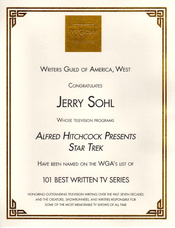 Figure 7 - WGA Award