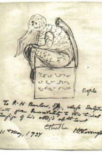 Página manuscrita de H.P. Lovecraft.