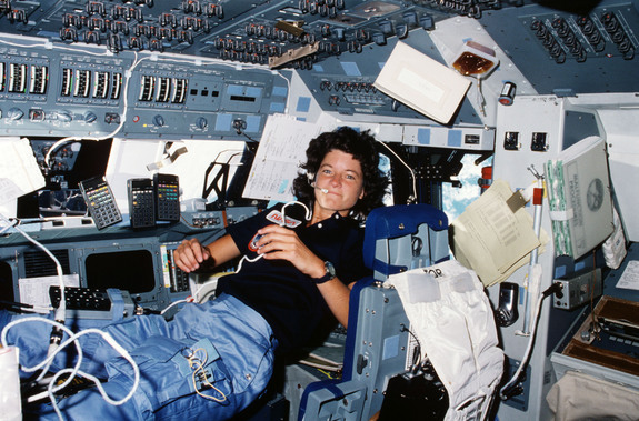 Sally Ride on STS 7 (June 1983)