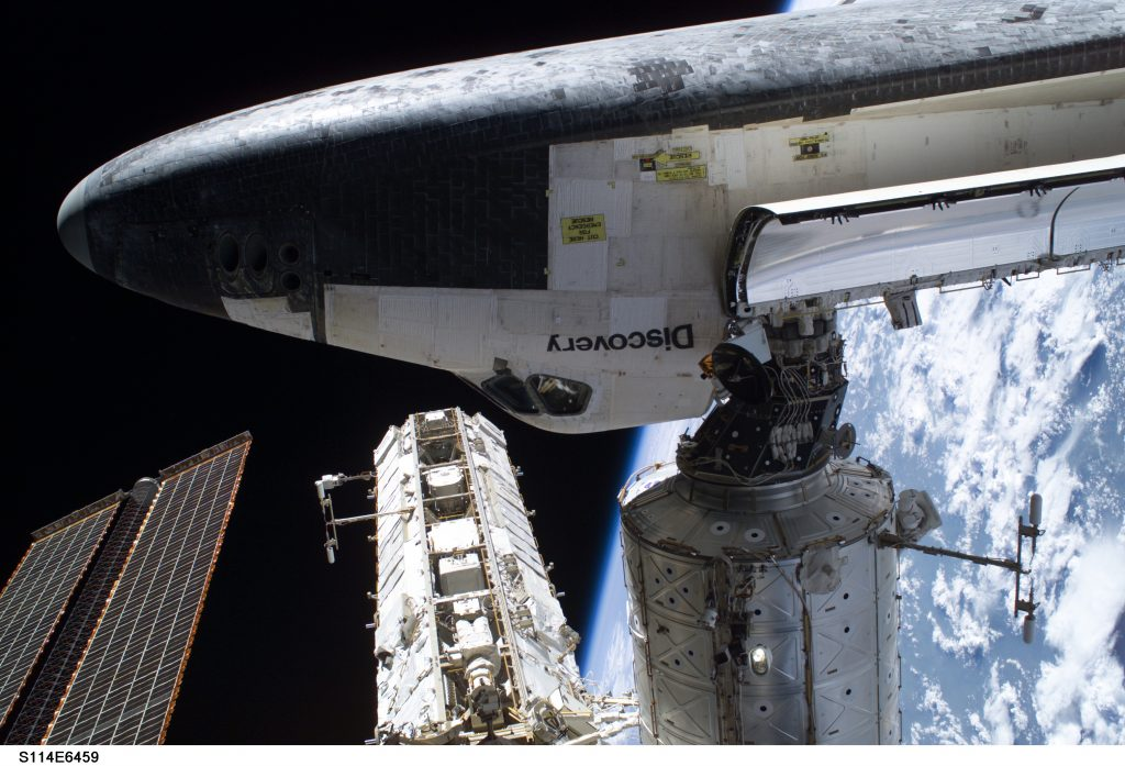 Space Shuttle Discovery Rendezvous with ISS (STS-114)