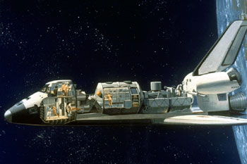 Spacelab Module in Space Shuttle Cargo Bay