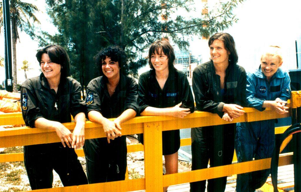 Women Astronaut Candidates 1978 (from left: Sally Ride, Judy Resnik, Anna Fisher, Shannon Lucid, Rhea Seddon, not shown Kathryn Sullivan)