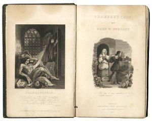 """El libro original de Mary Shelley, """"Frankenstein, el moderno Prometeo"""" (1818)."""
