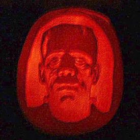 Figure 1 - Karloff pumpkin carving