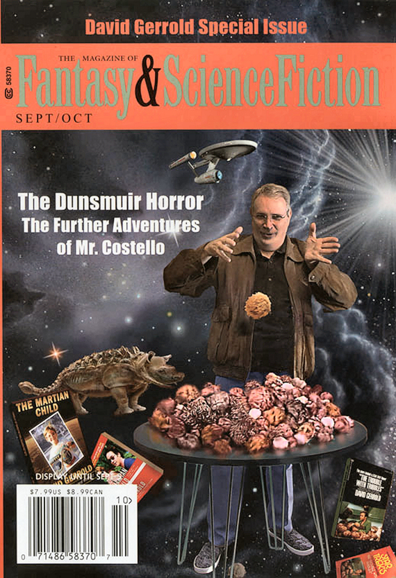 Figure 3 - F&SF Sept-Oct 2016 Cover by David A. Hardy