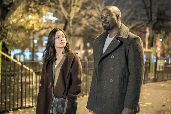 Figure 3 - Rosario Dawson and Mike Colter in Luke Cage