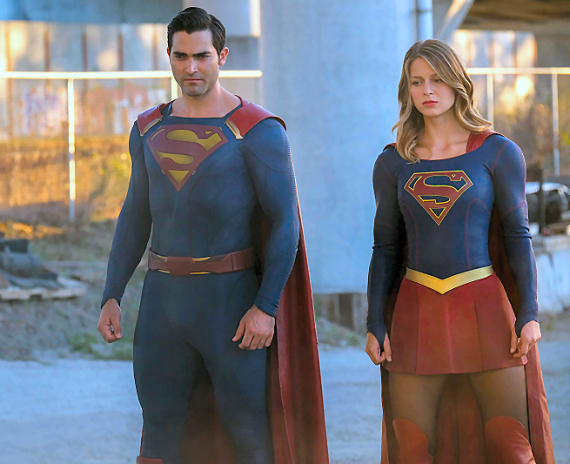 Figure 5 - Tyler Hoechlin and Melissa Benoist in Supergirl