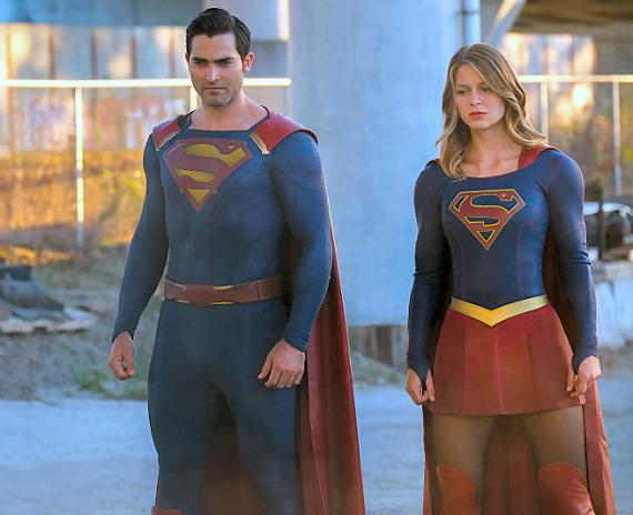 Figure 5 - Tyler Hoechlin and Melissa Benoist in Supergirl