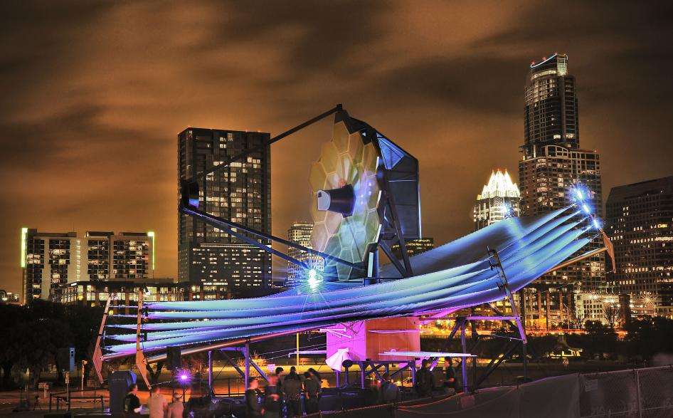 Full Scale Model of James Webb Space Telescope at South By Southwest